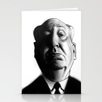 hitchcock Stationery Cards featuring Hitchcock by Rubiao Ferraz Cozer