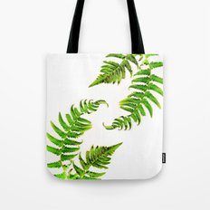 Fern on white - double Tote Bag