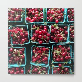 Farmer's Market Cherries Metal Print