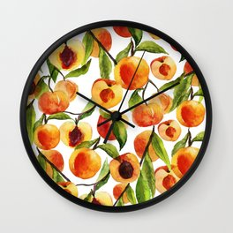 Passionate for peaches Wall Clock