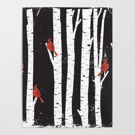 Northern Cardinal Birds Poster