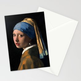 """Johannes Vermeer, """" The girl with a pearl earring """" Stationery Cards"""