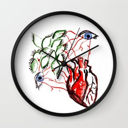Open your heart, open your eyes  Wall Clock