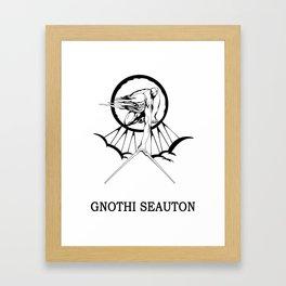 Lucas North : Gnothi Seauton Framed Art Print