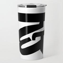 Ornate Ampersand Typography Travel Mug