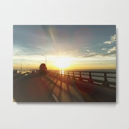 The Lake Maracaibo Bridge - I Metal Print