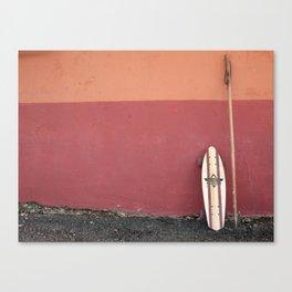 Skateboard Pilgrim Canvas Print
