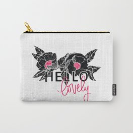 Hello Lovely - Hot Pink Carry-All Pouch