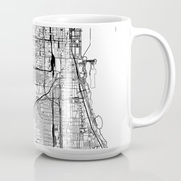 Chicago White Map Coffee Mug