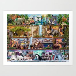 The Amazing Animal Kingdom Art Print