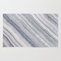 geology Area & Throw Rugs featuring Grey Marble by Santo Sagese