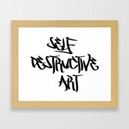 Self Destructive Art Framed Art Print