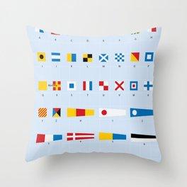 Maritime Signal Flags Poster Throw Pillow