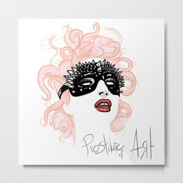 Prostitute of Art Metal Print