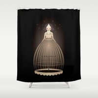 belle Shower Curtains featuring Belle by Borja Fernández