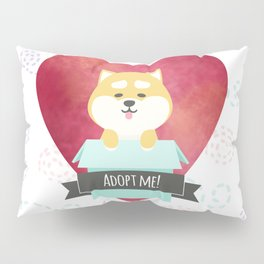 Pop-up Shiba Inu from the Box Pillow Sham