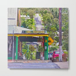 Beautiful street in the country Metal Print