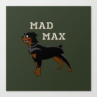 """mad max Canvas Prints featuring """"Mad Max"""" by MarkStantonDesign"""