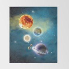 New Solar System Throw Blanket