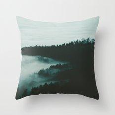dark fog Throw Pillow