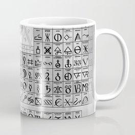 The Alchemical Table Of Symbols Coffee Mug
