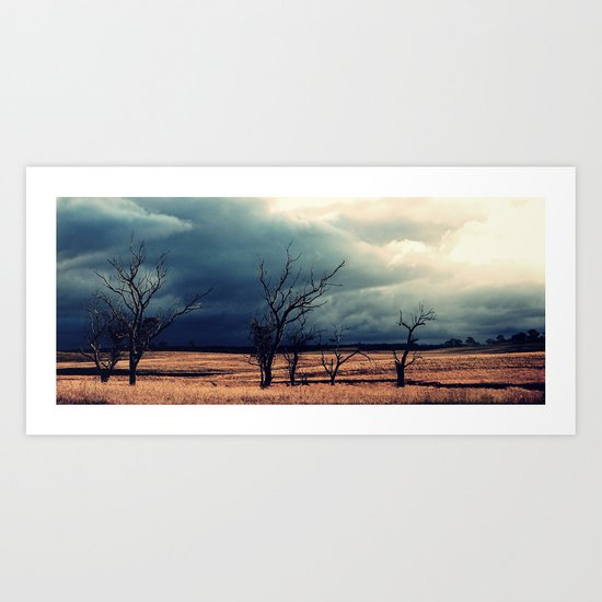 The relief of an Aussie drover Art Print