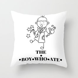 The Boy Who Ate Line Art - Ron Weasley Throw Pillow