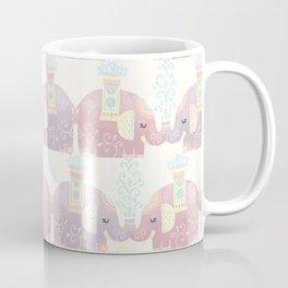 Happy Pastel Elephants Coffee Mug