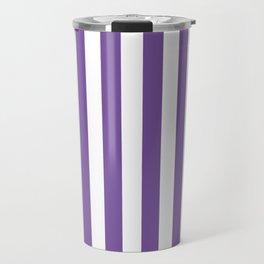 Vertical Purple Stripes Travel Mug