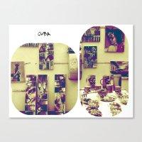 cuba Canvas Prints featuring cuba by whoù?