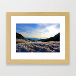 Above Juneau, Alaska Framed Art Print