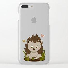 Hedgehog nursery baby art Clear iPhone Case