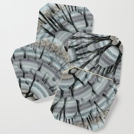 Xeric - Abstract sea colored pebbles X of Alphabet collection Coaster