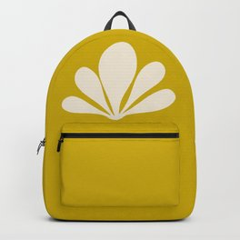 Tropical Plant Minimalism - Yellow Backpack