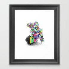 the mummy on air Framed Art Print