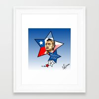 juventus Framed Art Prints featuring Idolo Vidal by Miguel Angel Illustrations