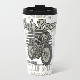 Caferacer Motorcycle Vintage Poster Travel Mug
