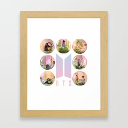 BTS Love yourself aswer Framed Art Print