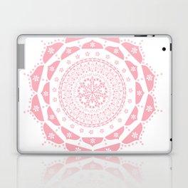 Dusky Pink Frosted Flower Mandala Laptop & iPad Skin