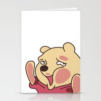 winnie the pooh Stationery Cards featuring trapped Winnie the Pooh by Stapanda