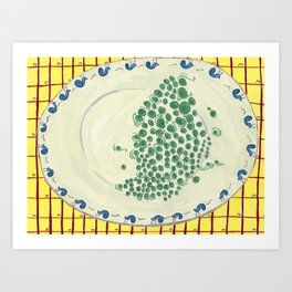 Peas On A Plate Art Print