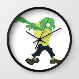 Funny Dabbing Zombie Halloween Dab Costume Wall Clock
