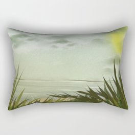 Digital Painting, Pastel Landscape Rectangular Pillow