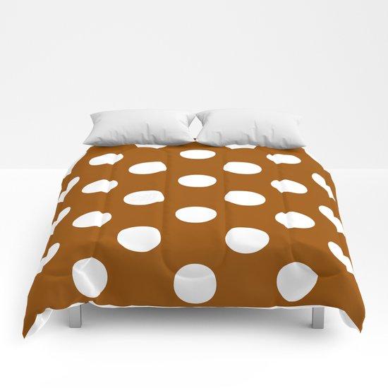 Polka Dots (White/Brown) Comforters