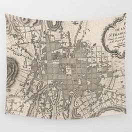 Vintage Map of Quito Ecuador (1764) Wall Tapestry