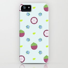 Blueberry and Mangosteen iPhone Case