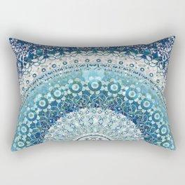 Teal Tapestry Mandala Rectangular Pillow