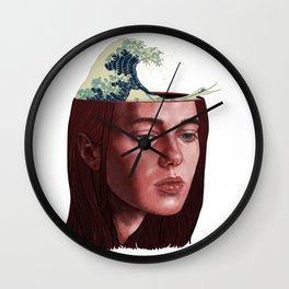 wave of thoughts Wall Clock