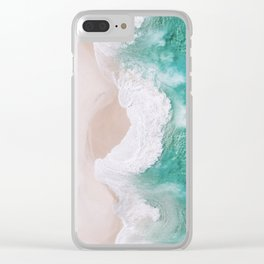 Waves spread out on the coast Clear iPhone Case