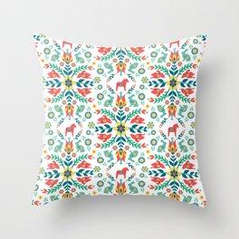 Swedish Folklore Throw Pillow